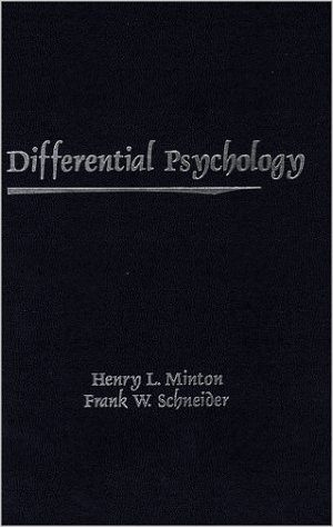 differential psychology J nesselroade 546 multivariate behavioral research methods of differential psychology are (or at least can be) more directly applicable to the study of process2 in another context, newell, liu, and.